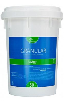 Rx Clear Stabilized Granular Chlorine | One 50-Pound Bucket | Use As Bactericide, Algaecide, and ...
