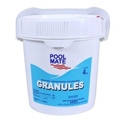 Pool Mate 1-1304 Stabilized/Concentrated/Chlorinating Granules, 4-Pound
