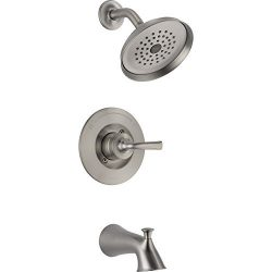 Delta Lorain Stainless 1-Handle Bathtub and Shower Faucet with Single Function Showerhead