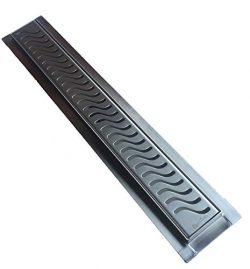 Royal Linear Shower Drain Stainless Steel Ocean Wave By Serene Steam 39
