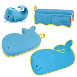 Skip Hop Moby Baby Bath Set, Four Bathtime Essentials – Spout Cover, Bath Kneeler, Elbow P ...