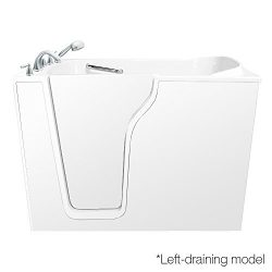 55″ x 35″ Dual Whirlpool Bathtub Configuration: Left