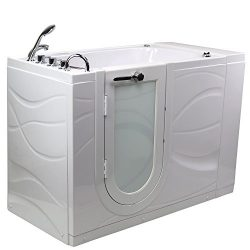 Chi Acrylic Hydro Massage and Heated Seat Walk-In Bathtub with Left Outward Swing Door, Thermost ...