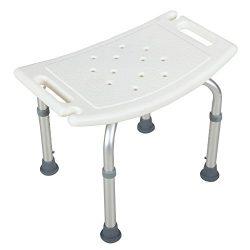 Mecor Medical Bathtub Stool Seat Adjustable 6 Height Bathtub Chair Bath Bench with Anti-Slip Rub ...
