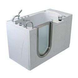 Ella H03107 Elite Acrylic Soaking+Heated Seat Walk-in Bathtub with Left Inward Swing Door, Therm ...