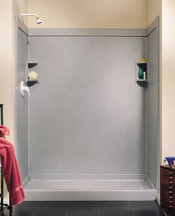 Swanstone SS-3696-2.011 36-Inch by 96-Inch Two Panel Shower Wall Kit, Tahiti White