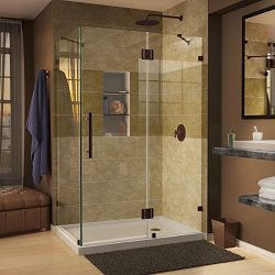 DreamLine Quatra Lux 34 5/16 in. D x 34 5/16 in. W, Frameless Hinged Shower Enclosure, 3/8&#8243 ...