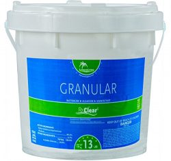 Rx Clear Stabilized Granular Chlorine | One 13-Pound Bucket | Use As Bactericide, Algaecide, and ...