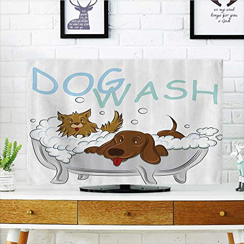 L Qn Television Protector Dogs Bathing In Bathtub Time