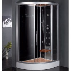 Platinum 47.7″ x 35.4″ x 89″ Pivot Door Steam Shower with Right Side Configuartion