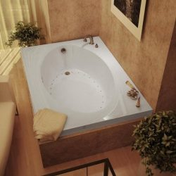 Atlantis Whirlpools 4384var Vogue Rectangular Air Jetted Bathtub, 43 X 84, Right Drain, White