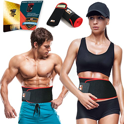 Only1MILLION Waist Shaper for Men and Women and Phone Pouch – Adjustable Waist Trimmer Belt for  ...