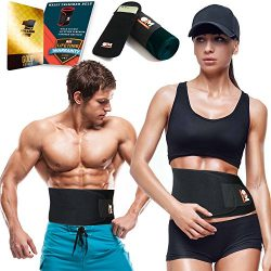 Only1MILLION Waist Trimmer Belt and Smartphone Neoprene Sleeve – Waist Sauna for Accelerated Wei ...