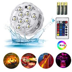 ZHUOFU Submersible led Lights,RGB Waterproof Underwater Lights with Remote Control for Hot Tub,V ...