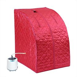 Asixx Sauna Spa Machine, Sauna Machine Portable 2L Steam Sauna Spa Home Tent Pot Machine Slimmin ...