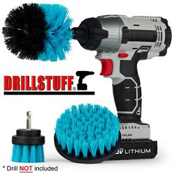 Swimming Pool Accessories – Drill Brush Kit for Liners, Walls, Deck, and Carpet – Cl ...