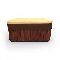 EmpirePatio Classic Square Hot Tub Covers Cap 86 in. Wide – Khaki Brown