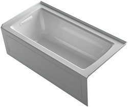 KOHLER K-1946-LA-95 Alcove Bath with Integral Apron, Tile Flange and Left Hand Drain, 60″  ...