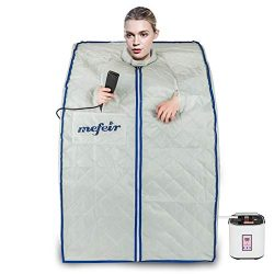 Mefeir Portable 2L Steam Sauna Home Spa, Full Body Slimming Loss Weight, Healthy Detox Therapy O ...
