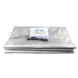 GJCrafts Digital Far-Infrared (FIR) Heat Sauna Blanket 2 Zone Controller to Reduce Weight Thin B ...