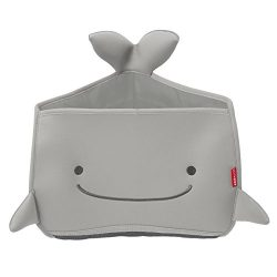 Skip Hop Moby Bath Toy Organizer For Babies And Toddlers, Corner Bath Tub Storage, Grey