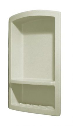 Swanstone RS-2215-037 Recessed Shampoo Shelf, Bone Finish