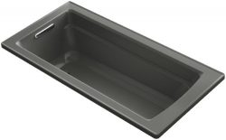 KOHLER K-1948-58 Archer ExoCrylic 66-Inch x 32-Inch Drop-In Bath with Reversible Drain, Thunder Grey