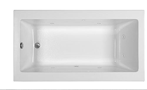 Reliance R6636crw W End Drain Whirlpool Tub White White