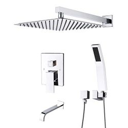 Artbath Shower System,Shower Faucet Set with Tub Spout for Bathroom and 10 inch Square Rain Show ...