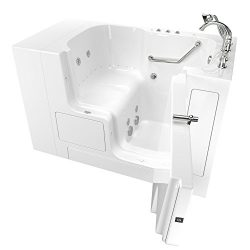 American Standard 32″x52″ Right Hand Outward Opening Door Value Series Walk in Combo ...