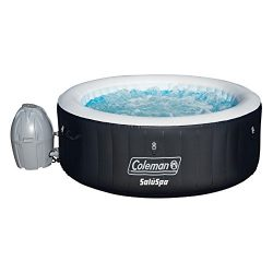 Coleman 71″ x 26″ Portable Spa Inflatable 4-Person Hot Tub, Black, 13804