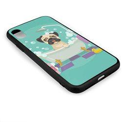 Amonee Pug Dog in Bathtub Grooming Salon Service Shampoo Bumper Cover for iPhone X,Full Protecti ...