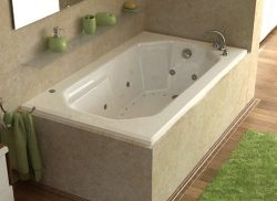 Atlantis Whirlpools 3660mdr Mirage Rectangular Air & Whirlpool Bathtub, 36 X 60, Right Drai ...