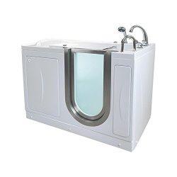 Ella H03118-HB Royal Acrylic Soaking+Heated Seat Walk-in Bathtub, 32″ x 52″ x 38R ...