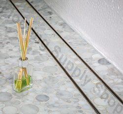 Royal Linear Shower Drain Stainless Steel Tile Insert By Serene Steam 23 1/2