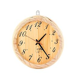 JIAN YA NA 8 inch Sauna Clock Sauna Accessories Decorative Wall Clock for Sauna Room Bedroom Liv ...