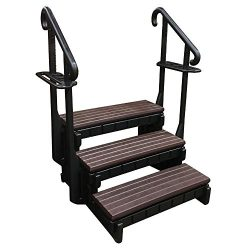 3-Tread Spa Step in Espresso and Black