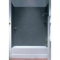 Swan SS00723.035 Solid Surface Glue-Up 3 Panel Bathtub Wall Kit, 30-in L X 60-in H X 72-in H, Ar ...