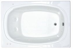 Atlantis Whirlpools 4878cwr Charleston Rectangular Whirlpool Bathtub, 48 X 78, Center Drain, White