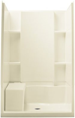 STERLING 72280100-96 Accord Seated 36-Inch x 48-Inch x 74-1/2-Inch Shower Kit, Biscuit