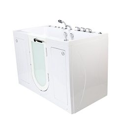 Ella O2SA3260DMH-HB-R Tub4Two Acrylic Hydro+Air+Microbubble Massage+Heated Seat Walk-in Tub with ...