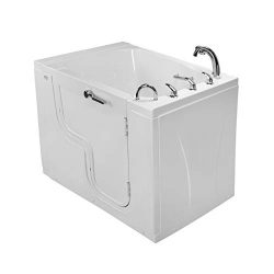 Ella TransferXXXL Acrylic Soaking and Heated Seat Walk-In Bathtub with Right Outward Swing Door, ...