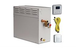 EliteSteam 15 KiloWatt Luxury Home Steam Shower System (Steam Shower Generator, Control, Steam H ...