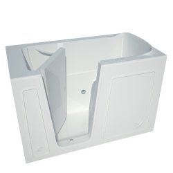Meditub MT3260LWH  32 by 60 by 40-Inch Hydrotherapy Walk In Bathtub Spa Left Side Door, White