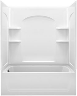 STERLING 71220110-0 Ensemble Bath and Shower Kit, 60-Inch x 32-Inch x 74-Inch, Left-Hand, White