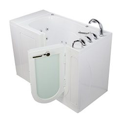 Ella OA3252HMH-HB-R Monaco Acrylic Hydro Massage, Microbubble Therapy and Heated Seat Walk-in Ba ...