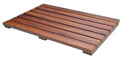 Soothing Styles Luxury Teak Bath Mat with Non Slip Feet & Natural Mildew Resistance for a Ho ...