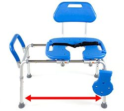 HydroGlyde Premium HEAVY DUTY Sliding Bathtub Transfer Bench and Shower Chair with CUT-OUT SEAT. ...