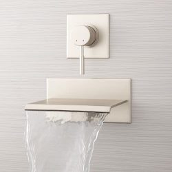Signature Hardware 378993 Lavelle 6-1/2″ Wall Mounted Waterfall Tub Faucet with Metal Leve ...