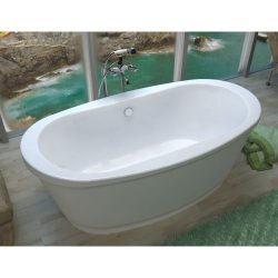 Avano AV3666AS Lulu 65-3/8″ Acrylic Soaking Bathtub for Freestanding Installatio, White